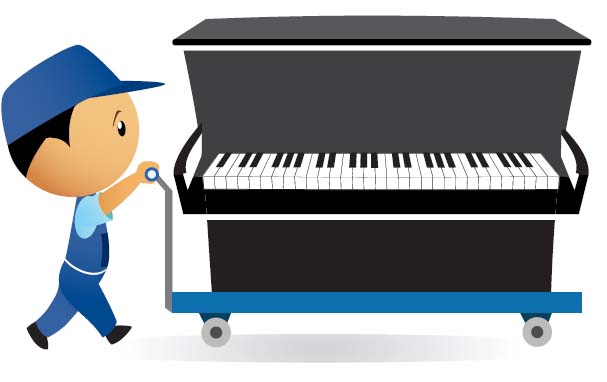 Safe piano removals kitsons for How much space does a baby grand piano need