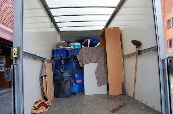 Part loaded office removal van