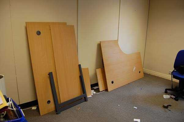 Disassemble office furniture
